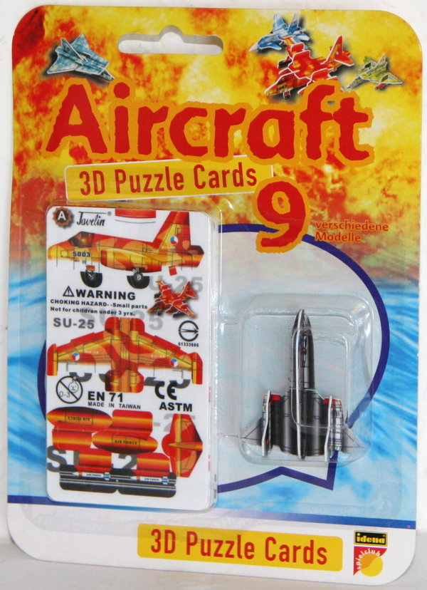 Aircraft - 3D Puzzle Cards